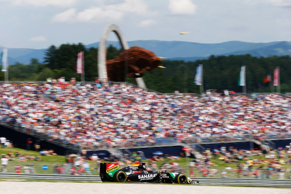 Red Bull Ring, Spielberg, Austria. Sunday 22 June 2014. Nico Hulkenberg, Force India VJM07 Mercedes. World Copyright: Steven Tee/LAT Photographic. ref: Digital Image _L4R0669
