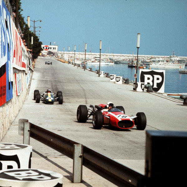 Monte Carlo, Monaco.  22nd May 1966.Jo Bonnier leads Guy Ligier, action.World Copyright LAT Photographicref: 2093