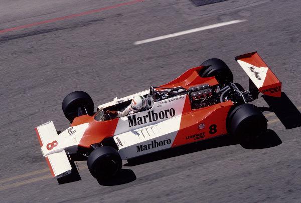 1981 United States Grand Prix West.Long Beach, California, USA.13-15 March 1981.Andrea de Cesaris (McLaren M29F Ford).Ref-81 LB 44.World Copyright - LAT Photographic