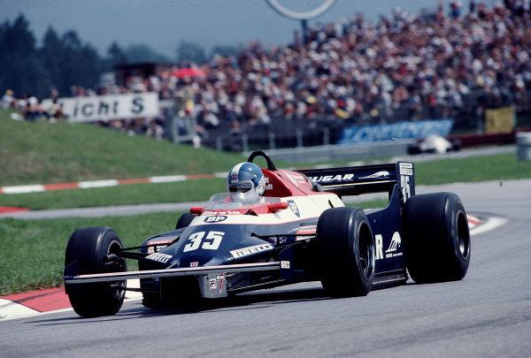 1982 Austrian Grand Prix.Osterreichring, Zeltweg, Austria.13-15 August 1982.Derek Warwick (Toleman TG181C Hart).Ref-82 AUT 48.World Copyright - LAT Photographic