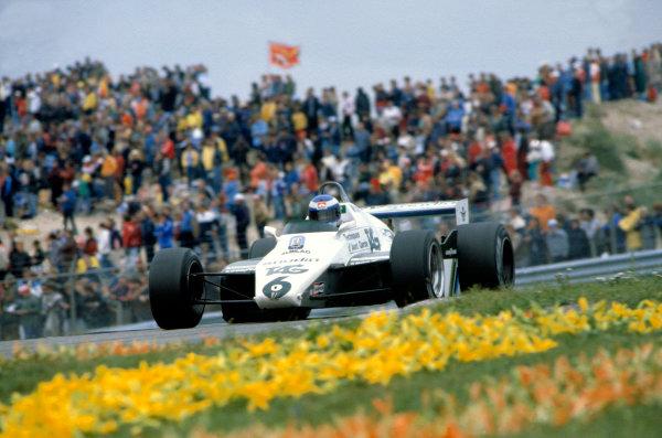 1982 Dutch Grand Prix.Zandvoort, Holland. 3 July 1982.Keke Rosberg (Williams FW08-Ford Cosworth).World Copyright:LAT Photographic