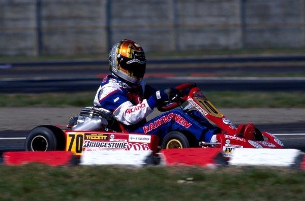 Kimi Raikkonen (FIN)  World Karting Championship, Margutti, Parma, Italy March 1998