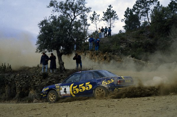 1993 World Rally Championship.Portuguese Rally, Portugal. 3-6 March 1993.Colin McRae/Derek Ringer (Subaru Legacy RS), 7th position.World Copyright: LAT PhotographicRef: 35mm transparency 93RALLY21