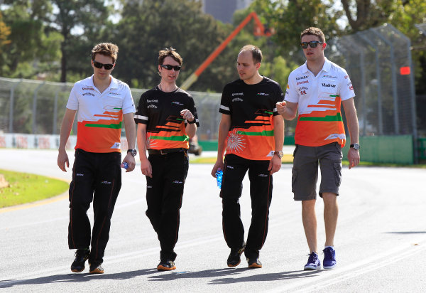 Albert Park, Melbourne, Australia Wednesday 13th March 2013 Paul di Resta, Force India World Copyright: Charles Coates/  ref: Digital Image _X5J1470