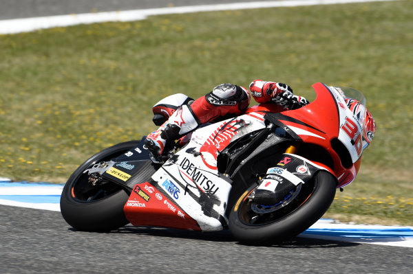 2017 Moto2 Championship - Round 4 Jerez, Spain Sunday 7 May 2017 Takaaki Nakagami, Idemitsu Honda Team Asia, after crash World Copyright: Gold & Goose Photography/LAT Images ref: Digital Image 16380