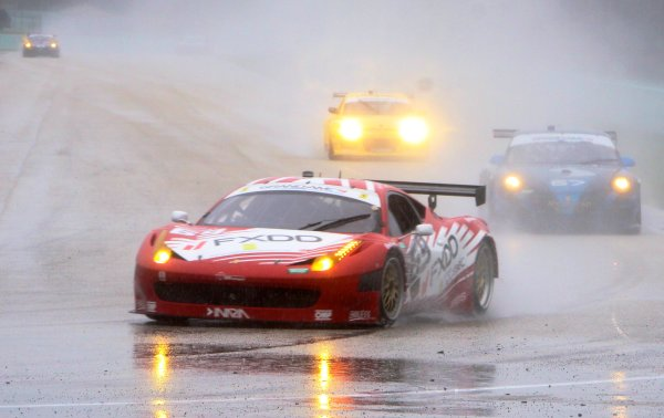 27-29 March, 2012, Homestead, Florida USA The #69 Ferrari of jeff Segal and Emil Assentato races through the heavy rain en route to the GT class victory. (c)2012, R.D. Ethan LAT Photo USA