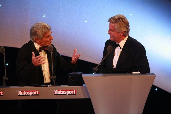 2006 Autosport AwardsGrosvenor House Hotel, London. 3rd December 2006.Pierre Dupasquier receives Michelin's award from Steve Rider.World Copyright: Malcolm Griffiths/LAT Photographicref: Digital Image _MG_2440