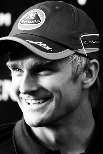 Heikki Kovalainen (FIN) Team Lotus.Formula One World Championship, Rd 10, German Grand Prix, Preparations, Nurburgring, Germany, Thursday 21 July 2011.Note: This image has been digitally altered from the original, which is also available on the archive. (d11ger176.jpg).