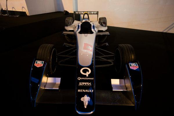 Autosport International Exhibition. National Exhibition Centre, Birmingham, UK. Friday 9 January 2015. Formula E car on the Autosport stage. World Copyright: Zak Mauger/LAT Photographic. ref: Digital Image _L0U2987