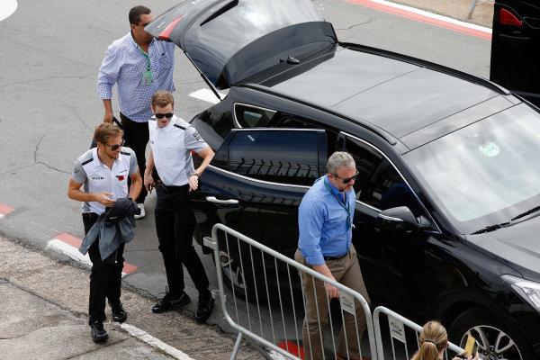 Interlagos, Sao Paulo, Brazil. Sunday 9 November 2014. Jenson Button, McLaren. World Copyright: Charles Coates/LAT Photographic. ref: Digital Image _J5R5478