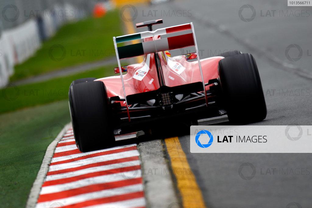 Albert Park, Melbourne, Australia 25th March 2011. Fernando Alonso, Ferrari 150° Italia. Action.  World Copyright: Glenn Dunbar/LAT Photographic ref: Digital Image _G7C3180