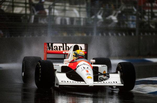 Ayrton Senna, McLaren MP4/6 Honda.