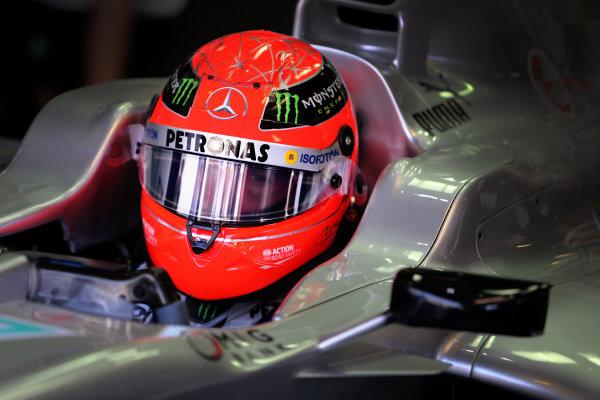 Autodromo Nazionale di Monza, Monza, Italy. 7th September 2012. Michael Schumacher, Mercedes AMG.  World Copyright: Steve Etherington/LAT Photographic ref: Digital Image SNE23538 copy
