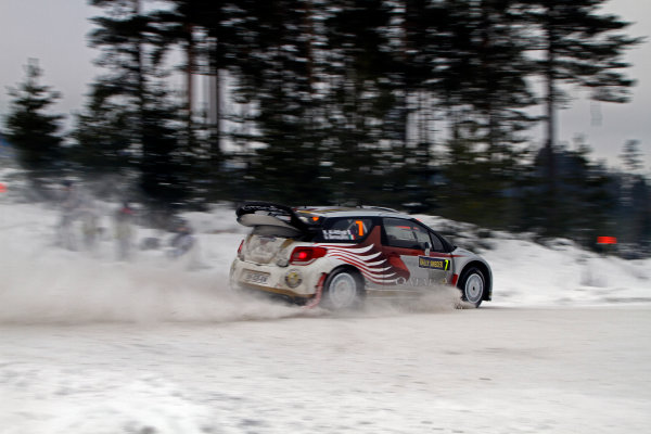 Round 02 - Rally Sweden 09-12 February 2012. Nasser Al-Attiyah, Citroen WRC, Action.  Worldwide Copyright: McKlein/LAT