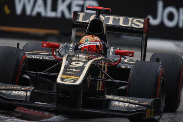 Marina Bay Circuit, Singapore. 23rd September 2012. Sunday Race.James Calado (GBR, Lotus GP). Action. World Copyright: Alastair staley/GP2 Media Serviceref: Digital Image _O9T1487.jpg