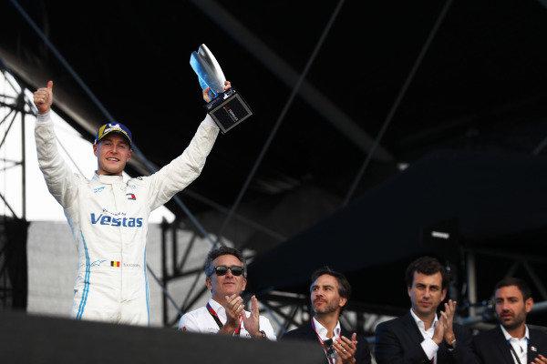 Stoffel Vandoorne (BEL), Mercedes Benz EQ Formula, EQ Silver Arrow 01, celebrates on the podium