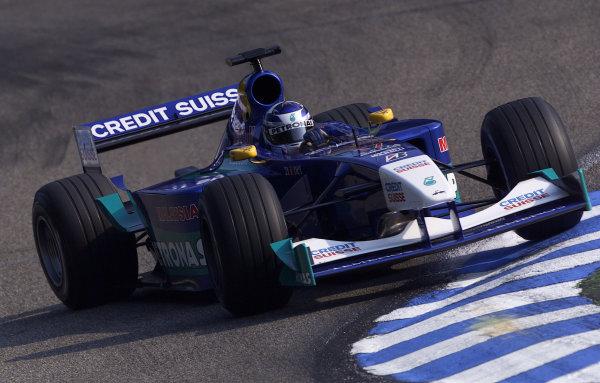 2001 German Grand Prix - Saturday QualifyingHockenheim, Germany. 28th July 2001.Kimi Raikkonen, Sauber Petronas C20, action.World Copyright: Steve Etherington/LAT Photographic.ref: 17 5 mb Digital Image
