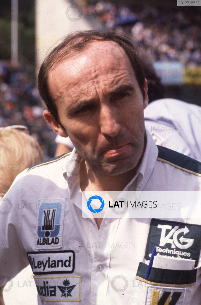 1981 Italian Grand Prix.Monza, Italy.11-13 September 1981Williams Grand Prix Engneering team owner Frank Williams.World Copyright - LAT Photographic