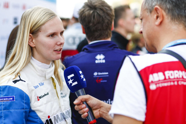 Beitske Visser (NLD), BMW I Andretti Motorsports., talks to the press