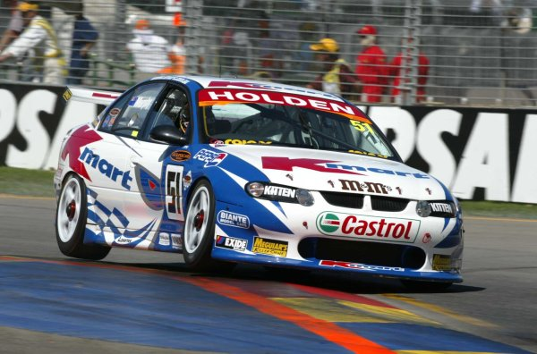 2002 Australian V8 SupercarsAdelaide Clipsal 500. Australia. 17th March 2002.Holden Commodore driver Greg Murphy in action during race 2. Murphy went on to finish 2nd.World Copyright: Mark Horsburgh/LAT Photographicref: Digital Image Only