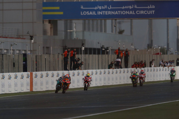 Jaume Masia, Red Bull KTM Ajo chequered flag.