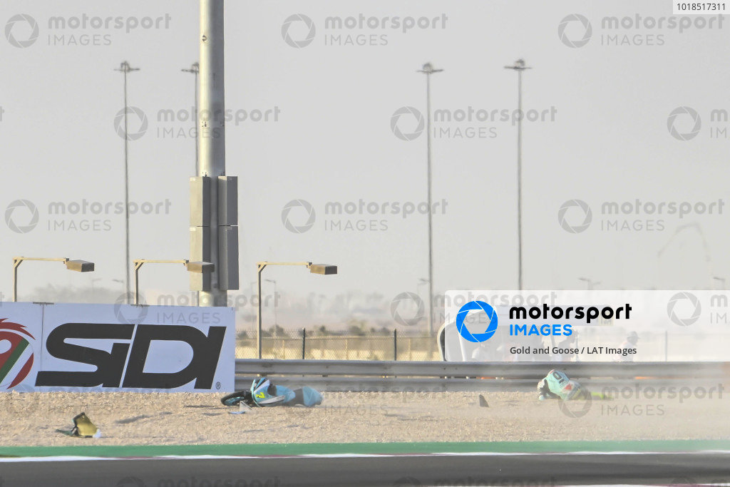 Dennis Foggia, Leopard Racing crash.