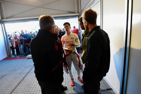 Sebastian Vettel (GER) with his brother Fabian Vettel (GER) at Audi Sport TT Cup, DTM Championship, Hockenheim, Germany, 14-15 October 2017.