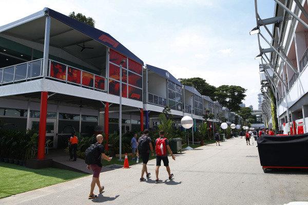 F1 Presonnel arrive in the paddock.