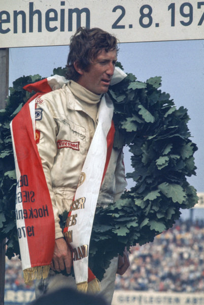 Jochen Rindt, Lotus 72C Ford, 1st, on the podium.