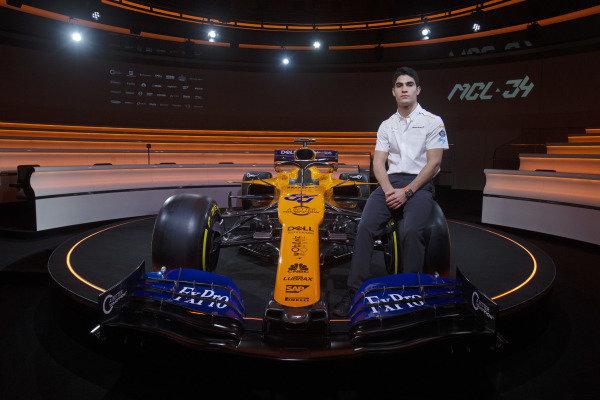 Sergio Sette Camara and the new McLaren MCL34
