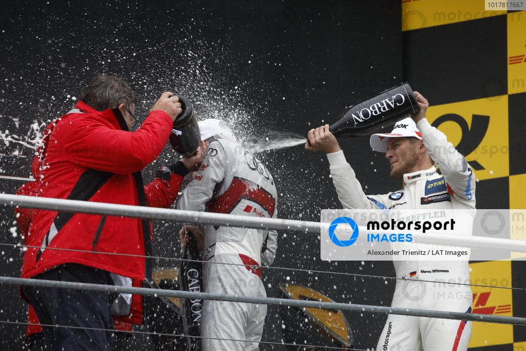 Champion Podium: René Rast, Audi Sport Team Rosberg, Marco Wittmann, BMW Team RMG, Hans-Joachim Rothenpieler, Member of the board, Audi AG.