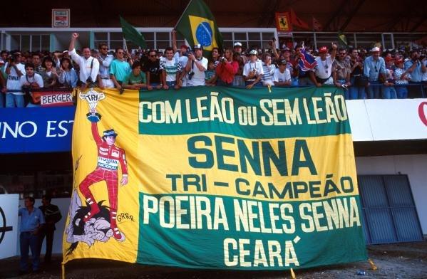 Brazilian Fans travel everywhere Portuguese Grand Prix, Estoril, 22 September 1991