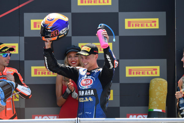 Podium: second place Michael van der Mark, Pata Yamaha.