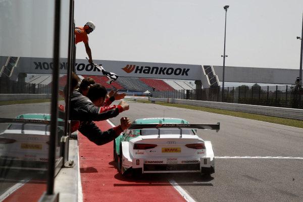 Race winner Nico Müller, Audi Sport Team Abt Sportsline, Audi RS 5 DTM.
