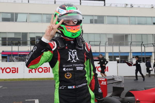 Race Winner Sacha Fenestraz, B-Max Racing with motopark F3 celebrates in Parc Ferme