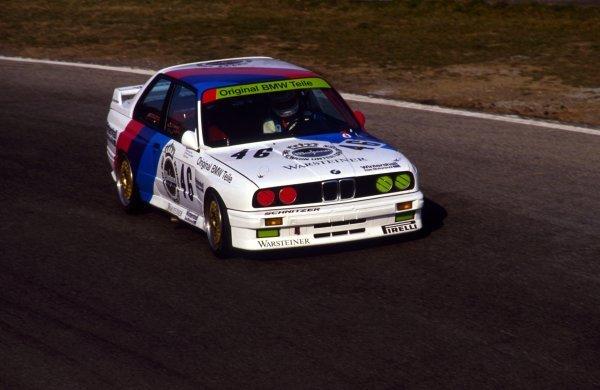 2nd place Roland Ratzenberger (AUT) BMW M Team.European Touring Car Championship, Monza, Italy, 22 March 1987.