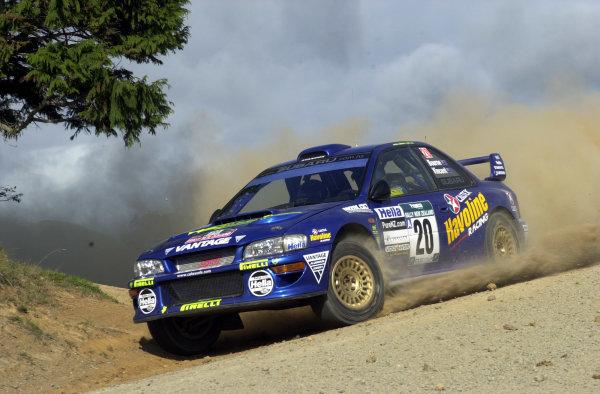2001 World Rally Championship.Rally of New Zealand. September 20-23, 2001.Auckland, New Zealand.Possum Bourne on stage 1.Photo: Ralph Hardwick/LAT