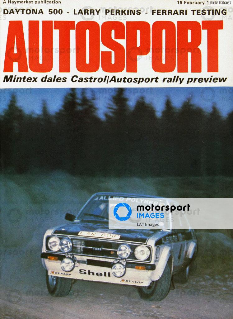 Cover of Autosport magazine, 19th February 1976