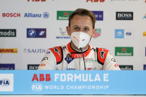 Rene Rast (DEU) Audi Sport ABT Schaeffler, in the press conference