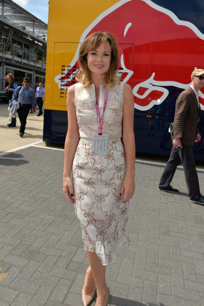 Amanda Holden (GBR). Formula One World Championship, Rd8, British Grand Prix, Race Day, Silverstone, England, Sunday 30 June 2013.