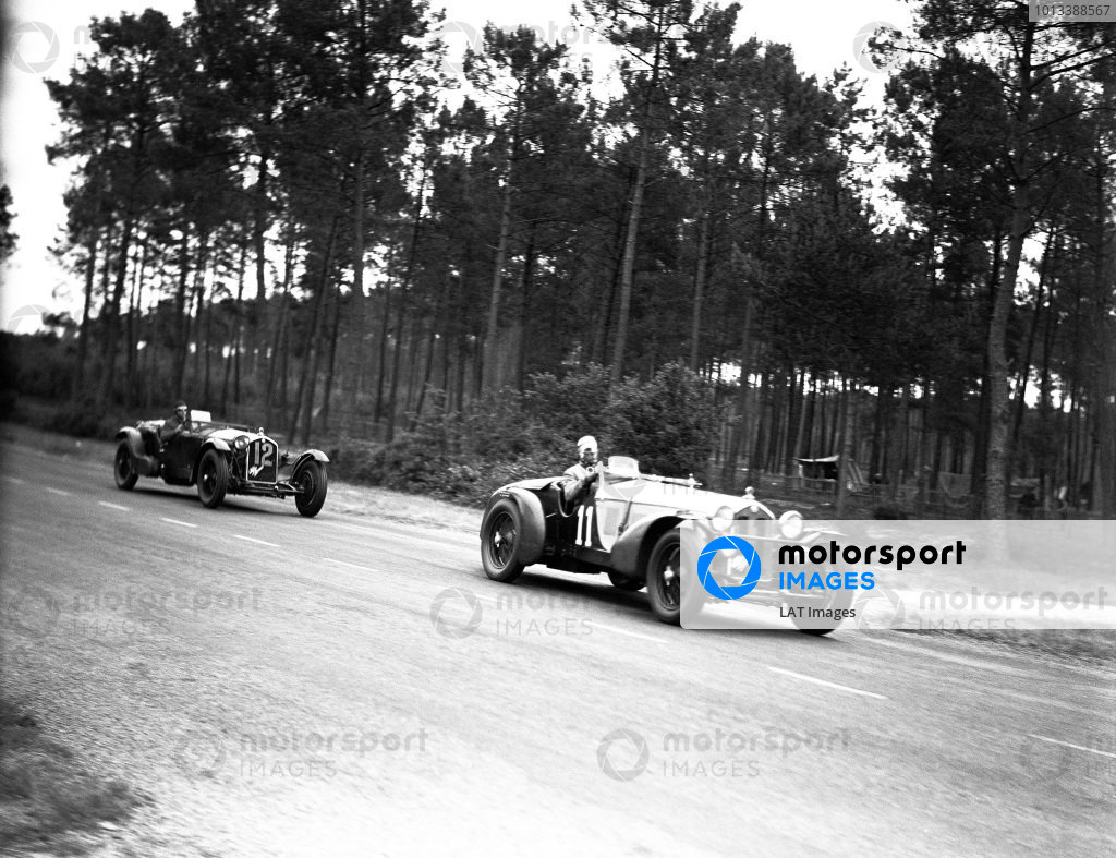 Le Mans, France. 17-18 June 1933.Tazio Nuvolari/Raymond Sommer (Alfa Romeo 8C), 1st position.World Copyright: LAT Photographicref: C854