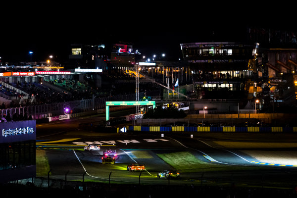 i2016 Le Mans 24 Hours. Circuit de la Sarthe, Le Mans, France. Sunday 19 June 2016. A view of the Ford Chicane and start/finish straight during the race. World Copyright: Zak Mauger/LAT Photographic ref: Digital Image _79P8284