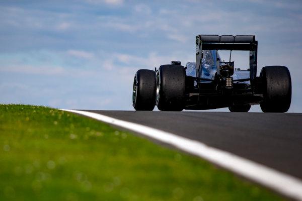 Silverstone, Northamptonshire, UK. Wednesday 13 July 2016. Pascal Wehrlein, Mercedes F1 W05 Hybrid. World Copyright: Zak Mauger/LAT Photographic ref: Digital Image _L0U8660