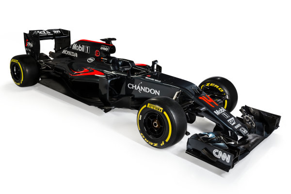 McLaren Honda MP4-31 Reveal. Woking, UK. Friday 19 February 2016. The McLaren Honda MP4-31. Photo: McLaren (Copyright Free FOR EDITORIAL USE ONLY) ref: Digital Image _X0W8723