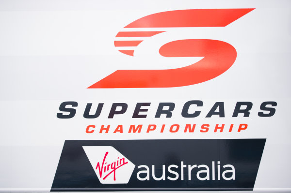 2016 V8 Supercar Championship Round 4.  Perth SuperSprint, Barbagallo Raceway, Western Australia, Australia. Friday 6th May to Sunday 8th May 2016. Supercars logo. World Copyright: Daniel Kalisz/LAT Photographic Ref: Digital Image 060516_V8SCR4_PPERTH_DKIMG_1566.JPG