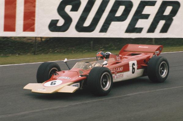 1971 Race of Champions.  Brands Hatch, England. 21st March 1971.  Emerson Fittipaldi, Lotus 56B Pratt & Whitney.  Ref: 71ROC26. World Copyright: LAT Photographic