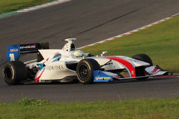 2016 Japanese Super Formula. Sugo, Japan. 24th - 25th September 2016. Rd 6. Winner Yuhi Sekiguchi ( #20 ITOCHU ENEX TEAM IMPUL SF14 ) action World Copyright : Yasushi Ishihara/LAT Photographic Ref : 2016SF_Rd6_SUGO_008