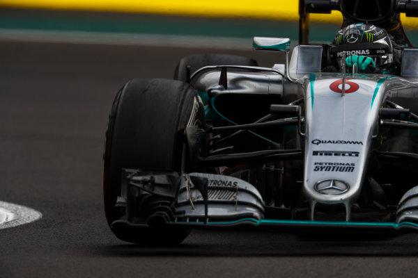 Autodromo Hermanos Rodriguez, Mexico City, Mexico. Friday 28 October 2016. Nico Rosberg, Mercedes F1 W07 Hybrid. World Copyright: Glenn Dunbar/LAT Photographic ref: Digital Image _X4I6929