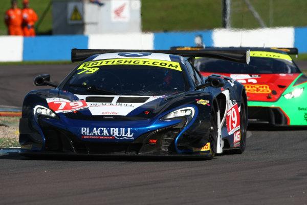 2016 British GT Championship Donington Park 10th-11th September 2016 Alasdair McCaig / Rob Bell Black Bull Ecurie Ecosse McLaren 650S GT3  World Copyright. Jakob Ebrey/LAT Photographic