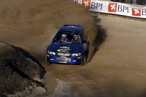2000 World Rally Championship.Portuguese Rally, Portugal. 16-19 March 2000.Juha Kankkunen/Juha Repo (Subaru Impreza WRC), retired.World Copyright: LAT PhotographicRef: 35mm transparency 2000RALLY14